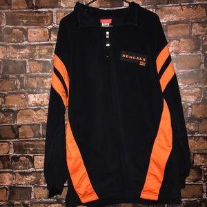 NFL Cincinnati Bengals 1/2 zip fleece pullover
